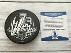 Willie Mitchell Signed 2014 LA Kings Stanley Cup Hockey Puck Beckett BAS COA a