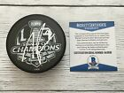 Tanner Pearson Signed 2014 LA Kings Stanley Cup Hockey Puck Beckett BAS COA a