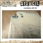 Tim Holtz Layering Stencils by Stampers Anonymous stencils 60 to 92