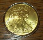 2014 24K Gold Gilded American Silver Eagle 1 Troy Oz 999 Fine One Dollar Coin