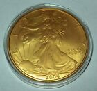 2004 24K Gold Gilded American Silver Eagle 1 Troy Oz 999 Fine One Dollar Coin
