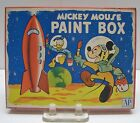 Vintage 1950s Disney Mickey Mouse in Space on the Moon Empty Tin Paint Box