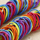 100pcs Elastic Rubber Hair Ties Band Rope Ponytail Holder Fashion Girl Scrunchie