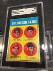 1963 TOPPS #553 WILLIE STARGELL PITTSBURGH PIRATES ROOKIE CARD SGC 80 EX NM 6