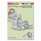 HOUSE MOUSE RUBBER STAMPS CLING FIRST AID NEW cling STAMP