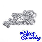 Happy Birthday Cutter Cutting Dies Stencils Scrapbooking Craft Embossing Album