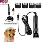 Mute Electric Large Pet Dog Cat Fur Grooming Clipper Razor Trimmer Shaver Kit