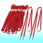 10 Pairs Red 115CM Long Sport Sneakers Flat Shoe Laces