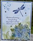 SYMPATHY CARD KIT STAMPIN UP AWESOMELY ARTISTIC HANDMADE DRAGONFLY FLOWER