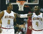 Autographed DWIGHT HOWARD  PAUL MILLSAP Atlanta Hawks 8x10 photo w COA