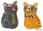 Smarty Cat Set Salt and Pepper Shakers Boston Warehouse Kitchen Decor Cat Kitty