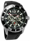 Nautica NST 07 Multifunction Black Rubber Band Men's Watch N11086G New in Box