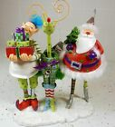 Joyce Shelton TWIZZLES CHRISTMAS SANTA ELF REINDEER TABLE DECORATION NEW