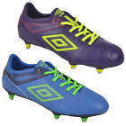 Umbro UX 1 Club Mens Football Soccer Soft Ground Boots Blue Purple