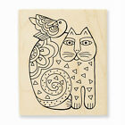 LAUREL BURCH RUBBER STAMPS FELINE FRIEND NEW WOOD STAMP