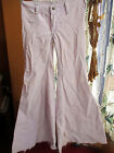 sz 00 26x29 HIPHUGGER Vtg 60s Womens LILAC CORDS ELEPHANT BELLBOTTOM JEANS RELIC