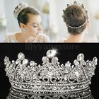 Vintage Full Crown Clear Austrian Crystal Rhinestones Bridal Wedding Tiara Prom