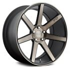 19x85 NICHE Wheels +35  5x1143  726 VERONA Rims Black Set of 4
