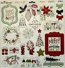 My Minds Eye Cozy Christmas 12x12 Chipboard Elements with glitter Save 40
