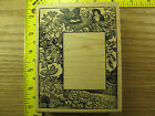 Rubber Stamp Nature Scene Frame Birds Flowers Nest Magenta Stampinsisters 3958