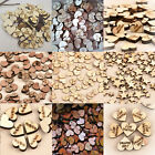 100pcs Rustic Wooden Wood Love Heart Wedding Table Scatter Decoration Crafts DIY