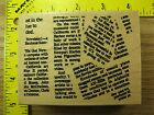 Rubber Stamp News Print Collage All Night Media Typed Text Stampinsisters 588