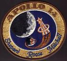 VINTAGE HALMARKED LION BROTHERS APOLLO 14 MISSION PATCH 4 X 4 3 4 FREE SHIP