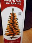 GREEN BAY PACKER ARTIFICIAL 3 FOOT CHRISTMAS TREE GREEN AND GOLD PACKERS