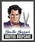 2012 Leaf Originals Wrestling Alternate Art Brutus Beefcake On Card Autograph