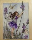 New Lavendar Flower Fairy Rubber Stamp Stamps Happen 90021 Cicely Mary Barker
