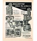 1976 Ballantyne Movie Theater Drive In Projectors Vtg Print Ad