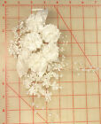 2 Vintage Lovely White Mini Flower Cluster Bouquet With Pearl Accents R308