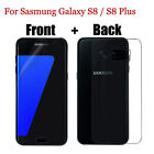 Front+Back Clear Screen Protector Guard Film For Samsung Galaxy S8 S8 Plus Lot