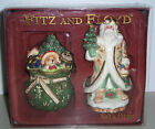 Fitz & Floyd WINTER WONDERLAND Salt & Pepper Set NIB FREE SHIP