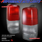 Set of Pair OE Style Red Clear Taillights for 1997 2001 Jeep Cherokee