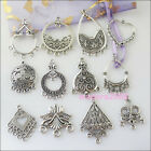 24Pc Mixed Silver Tone Charm Pendant Connector For Jewelry Making Craft DIY F112