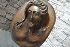 Hand carved BLACK FOREST wood wooden Christ Jesus figure statue relief plaque