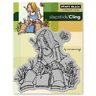 PENNY BLACK RUBBER STAMPS SLAPSTICK CLING GIRL WITH A JOURNAL NEW cling STAMP
