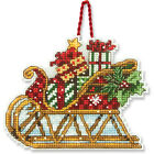 Counted Cross Stitch Kit SLEIGH ORNAMENT Susan Winget