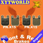 FRONT REAR Brake Pads PEUGEOT XPS 125 CT 2005 2006 2007