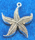 10Pcs Antique Silver STARFISH Star Fish Charms Pendants Tibetan Findings OT03