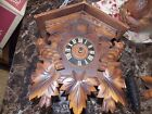 Vintage Germany Cuckoo Clock Regula with weights for parts or repair