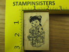 Rubber Stamp Little Asian New Year Girl Asian Images Stampinsisters 406