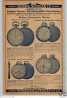 1930 PAPER AD 3 PG Waltham Pocket Watch Colonial