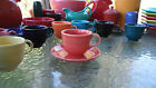 HOMER LAUGHLIN FIESTA  TEA COFFEE CUP & SAUCER persimmon orange NEW