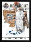 11 12 Panini Past & Present Breakout #13 Russell Westbrook Autograph Insert Card