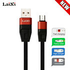 LaiXi Aliuminum Alloy USB Charger Sync Cable For Android Phone Black