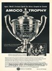 1958 Amoco Trophy - Original Advertisement Print Art Car Ad J684