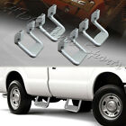 4 x Universal Truck Silver Texture Coated Die Cast Aluminum Trunk Side Step Bar