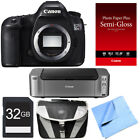Canon EOS 5DS R 506MP Digital SLR Camera Body Only Printer Bundle